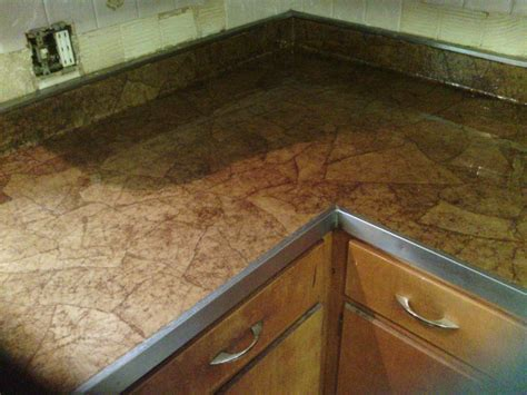 decoupage countertops brown paper bag countertops and floors on