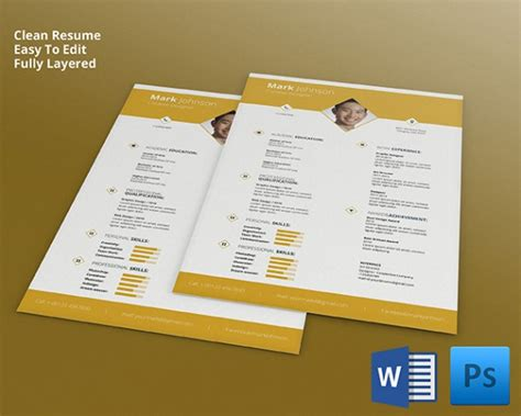 interior design resume templates psd resume template 51 free sles exles format