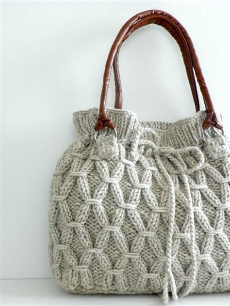knitted bag knitted bag sewing