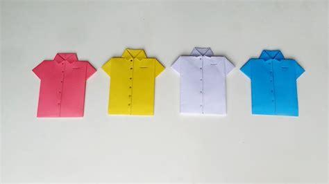 paper shirt origami origami shirt how to make easy paper shirt card diy