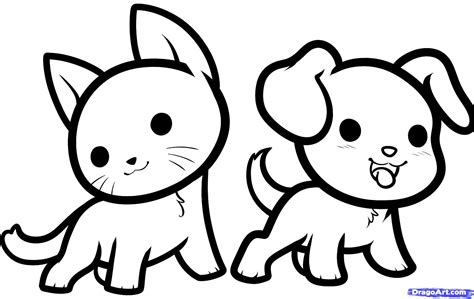 animals easy how to draw kawaii animals step by step anime animals