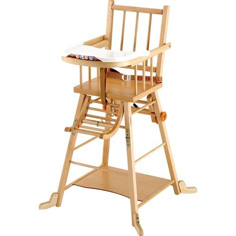 chaise haute b 233 b 233 transformable vernis naturel de combelle en vente chez cdm
