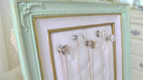 how to make jewelry holder picture frame diy thrift store frame to jewelry organizer