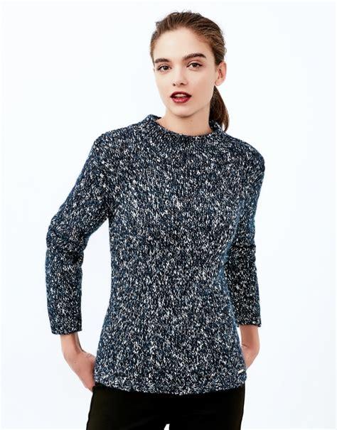 thick knit sweater blue thick knit sweater knitwear roberto verino