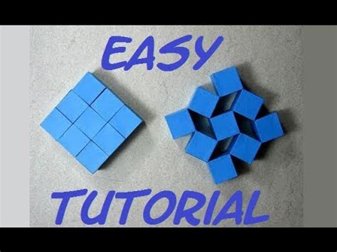 how to make moving origami how to make origami moving cubes easy hd craft