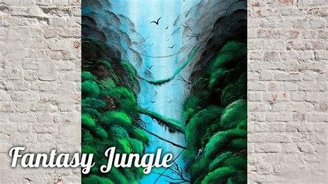 spray paint jungle spray paint tropical jungle painting seagull jungle