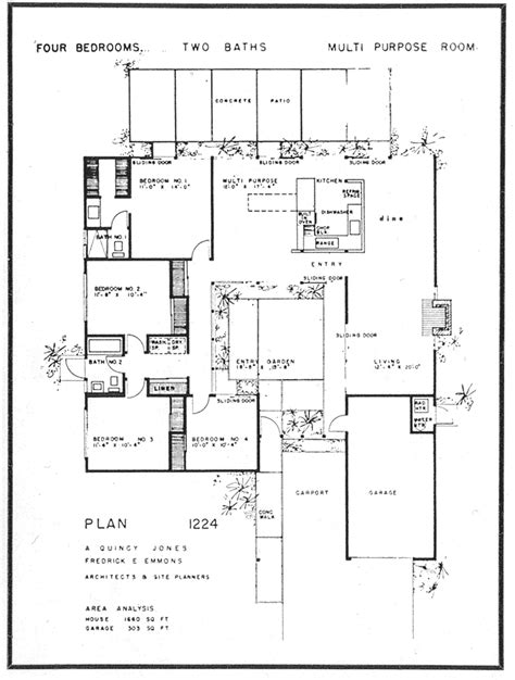 floor plans pictures eichler the house floor plan