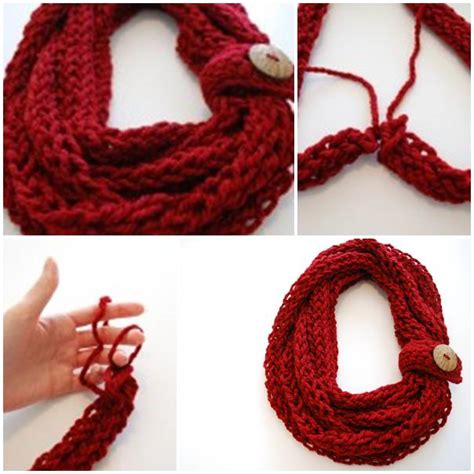 how to finger knit a scarf diy finger knit infinity scarf usefuldiy