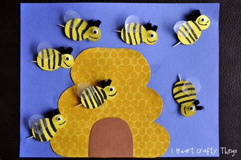 bee crafts for busy bees craft she s crafty
