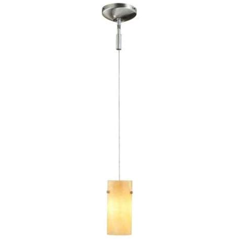 home depot pendant lights hton bay 1 light brushed steel track lighting pendant