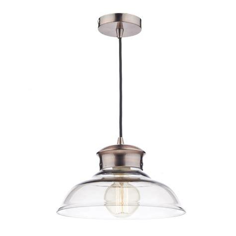 pendant ceiling light dar lighting sir0164 siren copper and glass ceiling