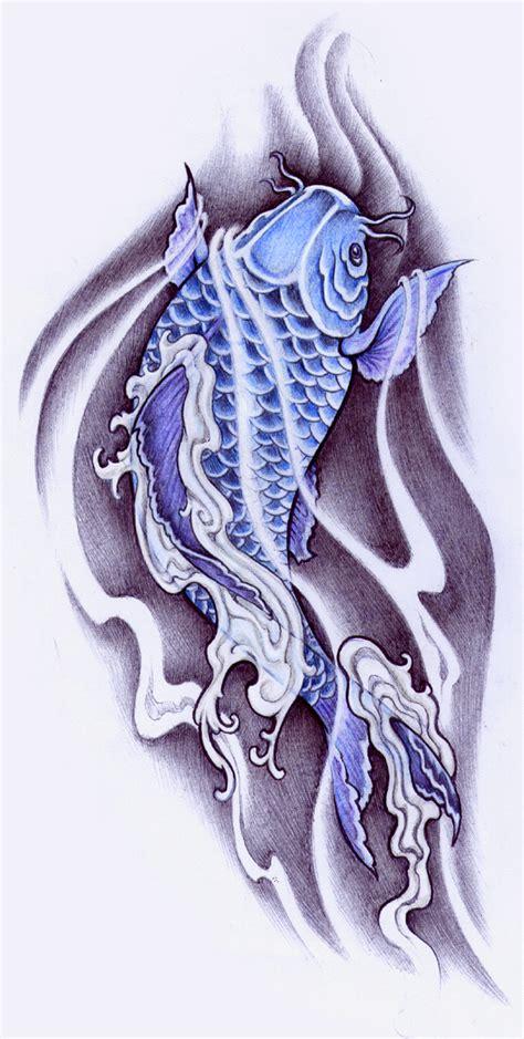 blue koi by pallat on deviantart