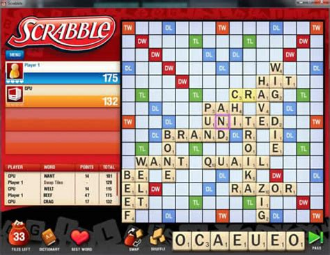 free scrabble with computer scrabble for pc play now