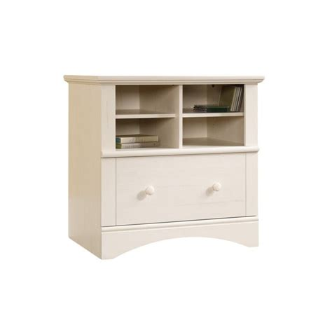 1 drawer lateral file cabinet 1 drawer lateral wood file cabinet in antique white 158002