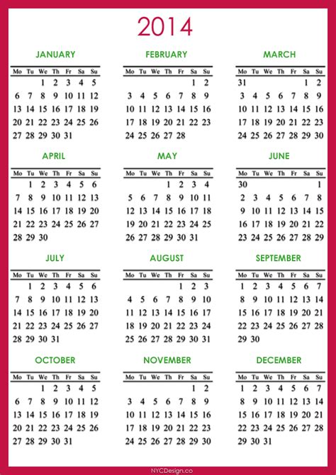 2014 calendar december printable new calendar template site