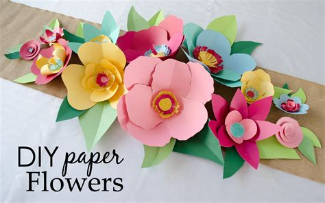 paper roses craft diy cut paper flowers project nursery