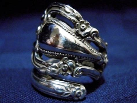 how to make silverware jewelry rings antique silverware reincarnated as gorgeous jewelry