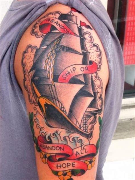 old galleon tattoo by big kahuna tattoo