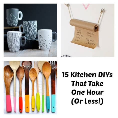 one hour craft projects easy kitchen diy one hour kitchen projects
