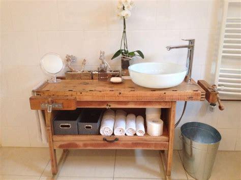Badezimmermöbel Nrw by Waschtisch Aus Einer Hobelbank Badezimmer Vintage