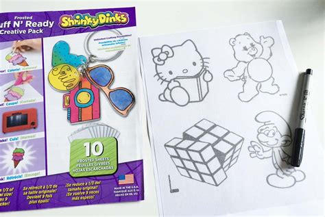 shrinky dink ornaments 80s shrinky dink ornaments chica and jo