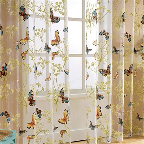 butterfly kitchen curtains popular butterfly kitchen curtains buy cheap butterfly