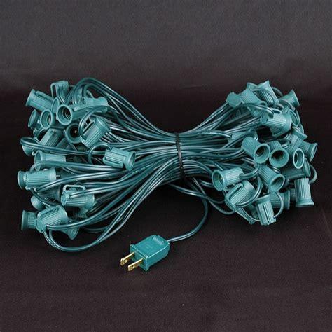 c7 string lights 100 teal c7 light set on green wire novelty