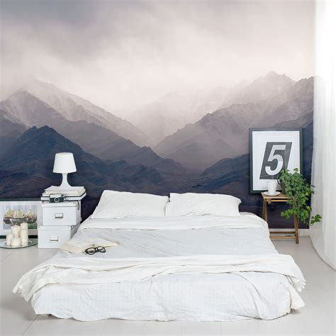 murals for bedroom walls mountains wall mural