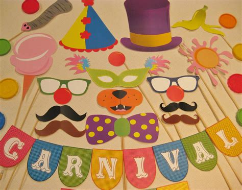 carnival crafts for pdf circus carnival photo booth props decorations craft