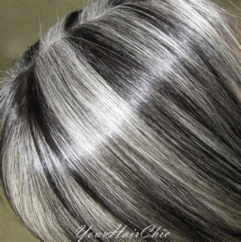 gray hair with lowlights hairstyles for grey hair with low lights pics black