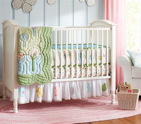 pottery barn nursery bedding lines dots and curls