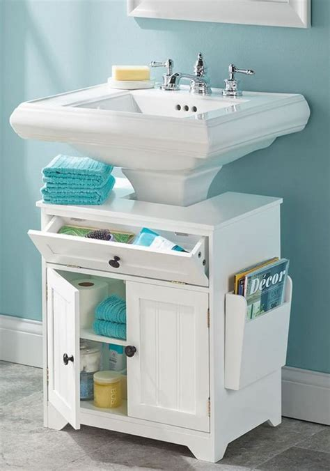bathroom storage ideas sink best 25 pedestal sink storage ideas on corner