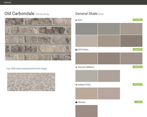 Carbondale White Gray Brick General Shale Behr