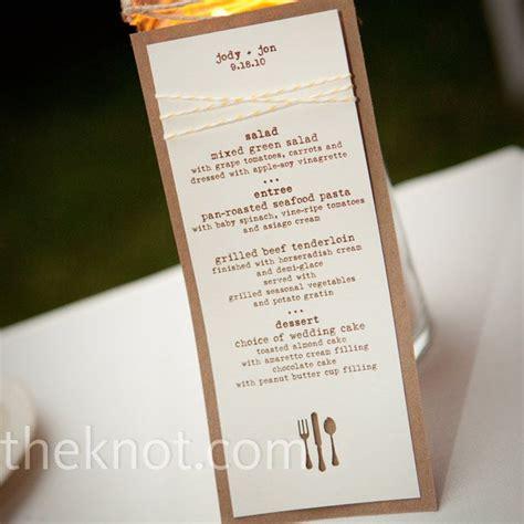 how to make menu cards rustic menu cards wedding ideas