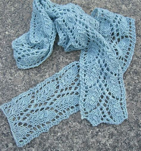 leaf knitting pattern scarf leaf lace knit scarf knitting patterns
