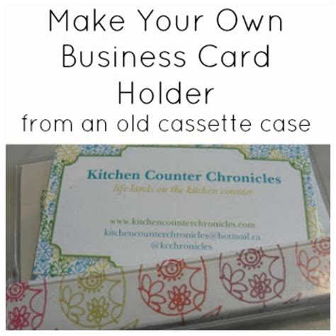 make your own business card holder make your own handmade business card holder