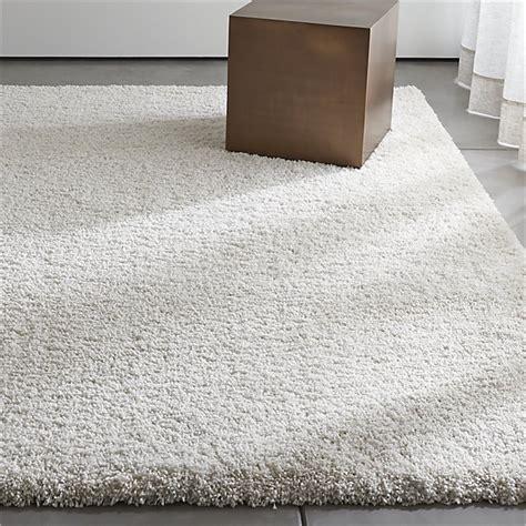 white shag area rug white shag rug crate and barrel