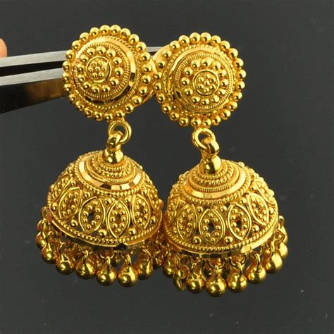gold jewelry charges in india 22k solid yellow gold post earrings with backs pair just