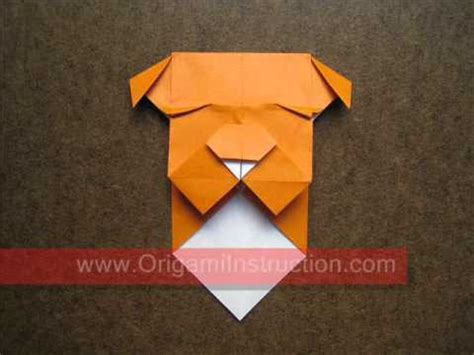 origami bulldog how to make an origami bulldog bookmark vk3