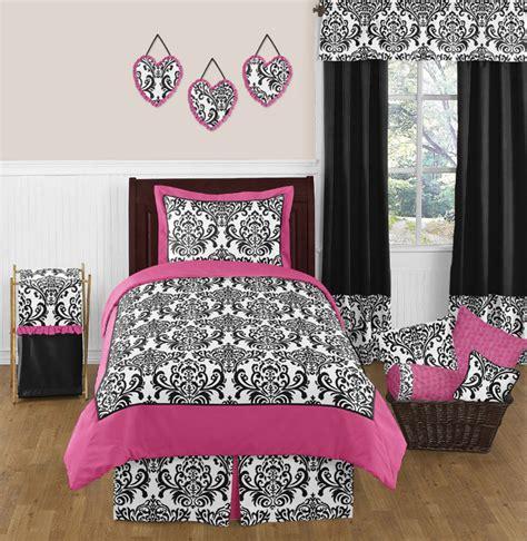 black and pink bedding set sweet jojo designs pink black white damask size