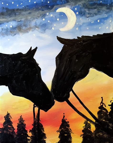 paint nite uk nuzzling at winterport winery paint nite events