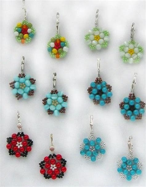 how to make beaded flowers diy beautiful bead flower earrings fabdiy
