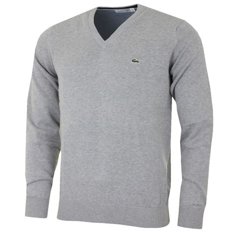 mens knit pullover lacoste 2017 mens classic v neck knit jumper ah4890