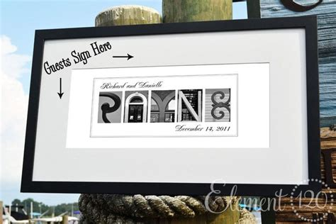 picture frame guest book personalized wedding guest book found letter photo