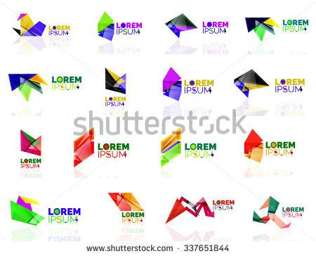 origami company royalty free blank abstract geometric layouts 261558053