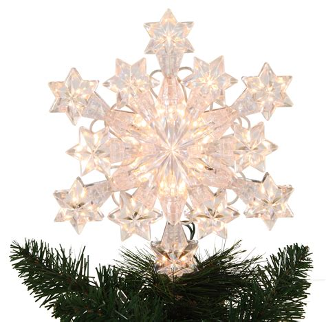 snowflake tree toppers decorations 9 5 quot lit snowflake tree topper