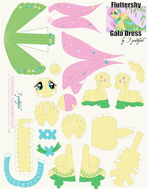 how to make a out of pony fluttershy gala printout by fyrewytch on deviantart
