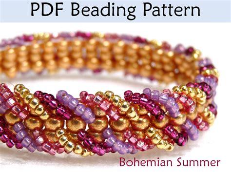ladder stitch beading patterns bohemian summer ladder stitch beading pattern by