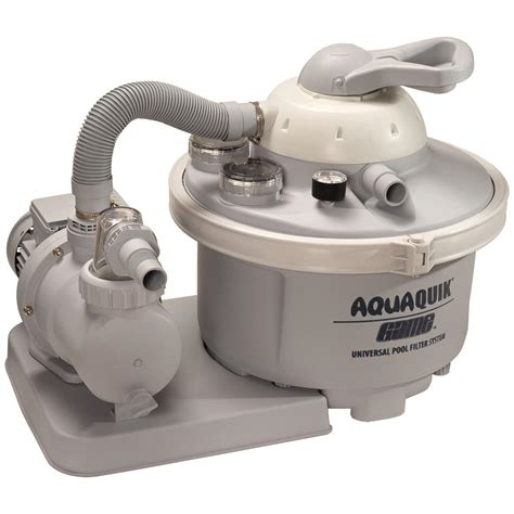 above ground pool and sand filter g a m e aquaquick 174 1 2 hp sand filter for above ground