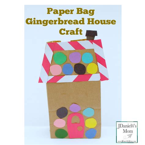 paper crafts house paper bag gingerbread house craft jdaniel4s